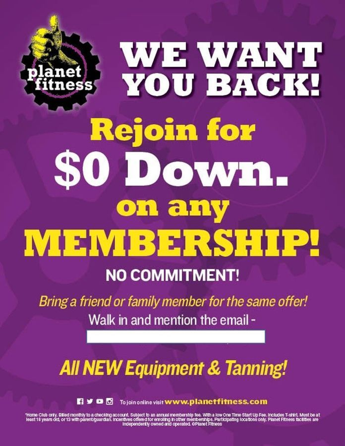 automation email planet fitness