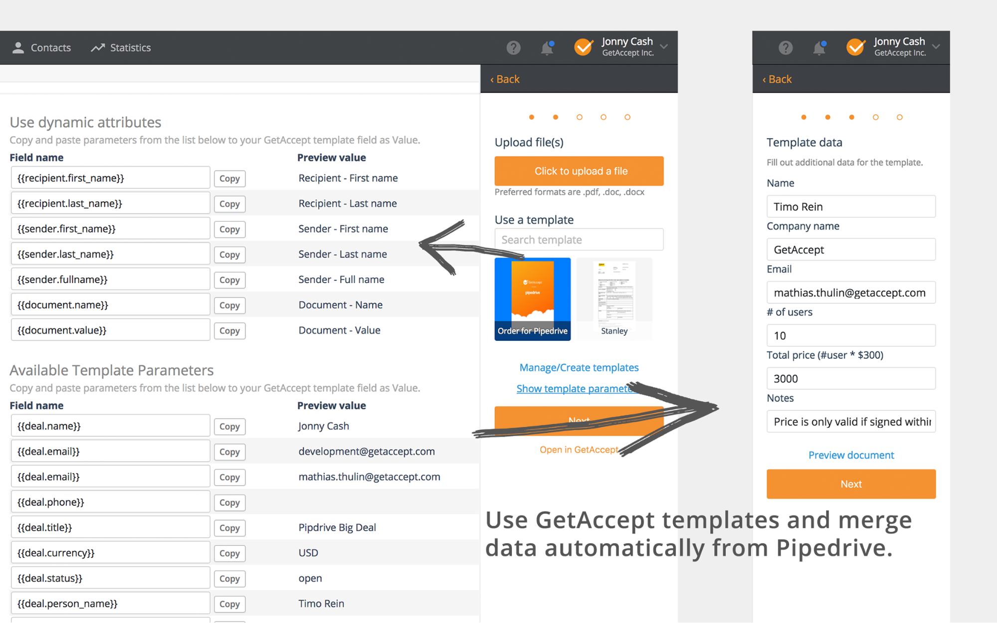 GetAccept and Pipedrive