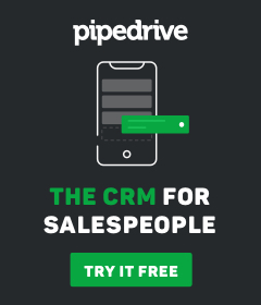 The CRM for salespeople. Pipedrive.