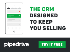 The CRM designed to keep you selling. Pipedrive.