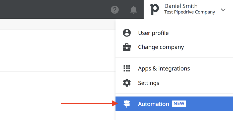 pipedrive workflow automation button